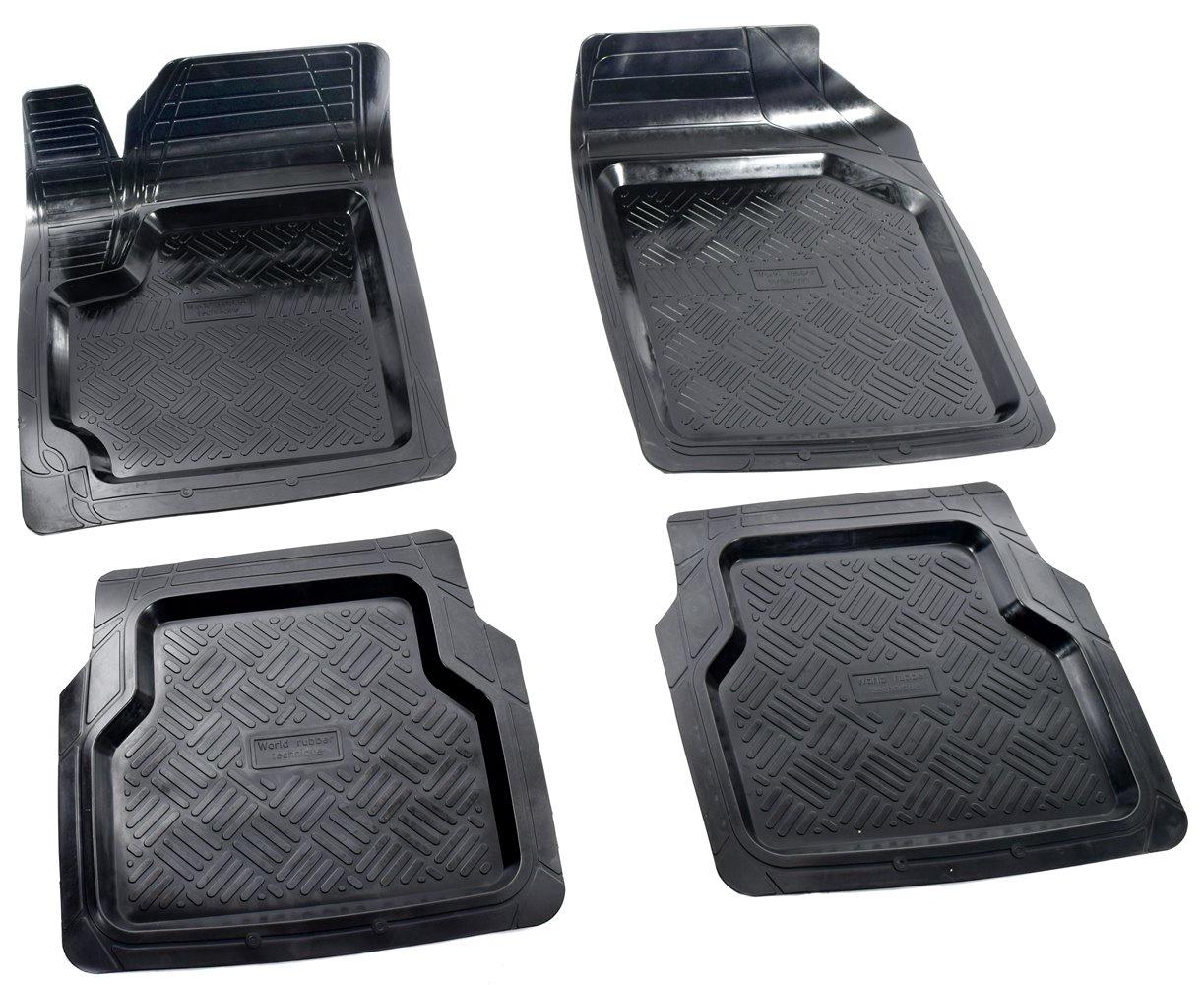 игровые коврики Коврики в салон автомобиля Avtodriver Вариант, универсальные, 4 шт, ADRU002, резиновые, с бортиком, черный