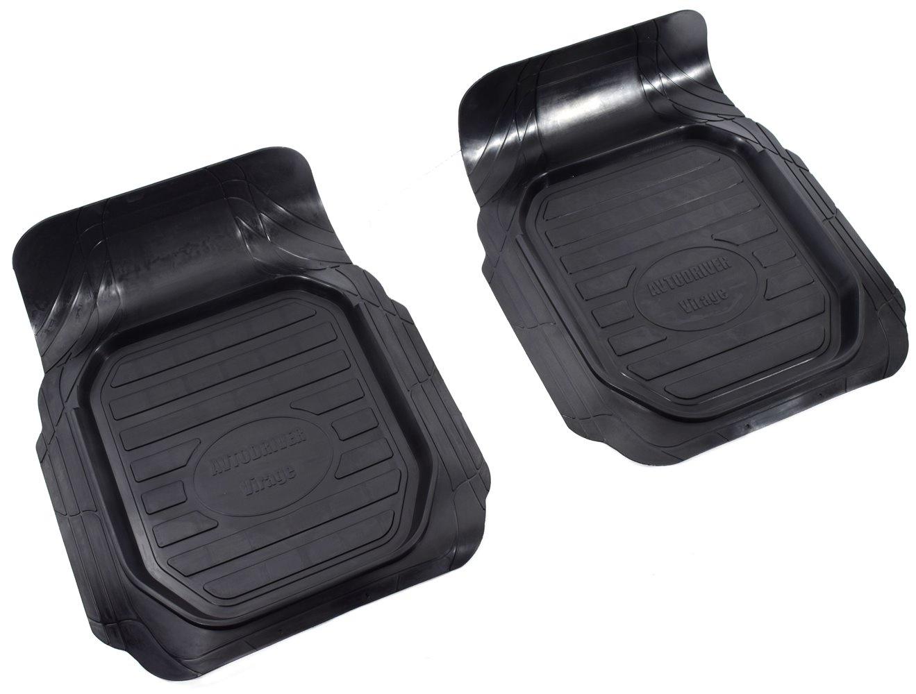 Коврики в салон автомобиля Avtodriver Вираж, универсальные, 2 передних, ADRU005, резиновые, с бортиком, черный
