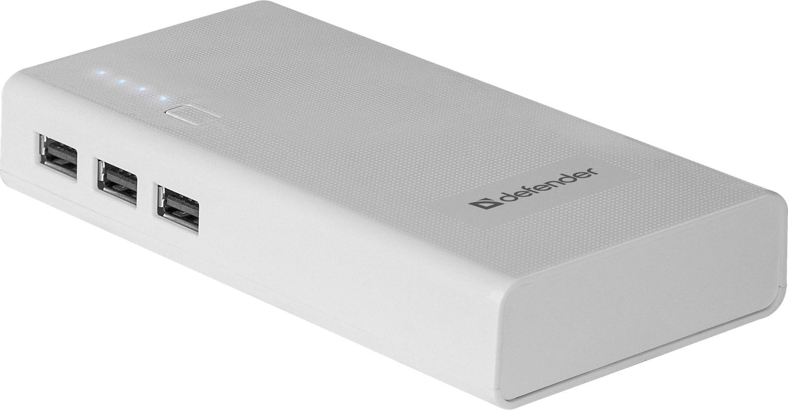 Внешний аккумулятор Defender Lavita 10000E 3 USB 10000 mAh 2.1A цена