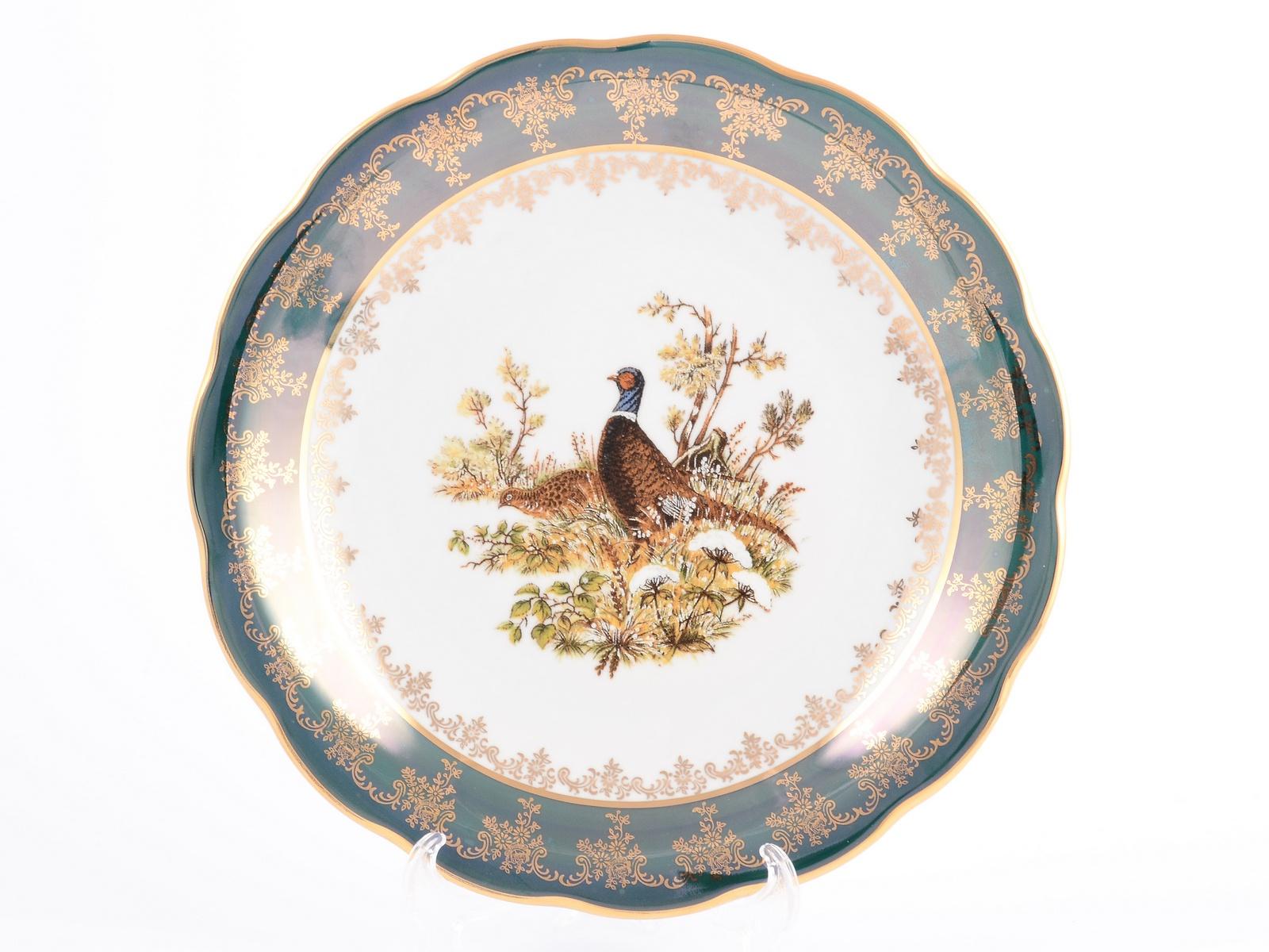 "Блюдо круглое Sterne Porcelan ""Охота зеленая. Корона"", 36218, 30 см"