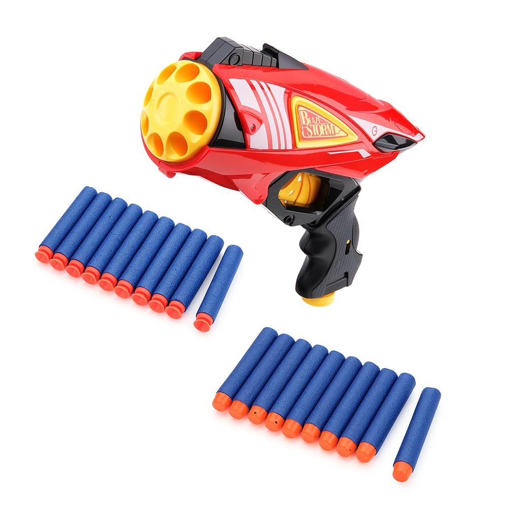 Бластер FindusToys Механический мини Blaze Storm с мягкими снарядами 7038 бластер для девочки findustoys blaze storm fd 08 015 белый черный розовый