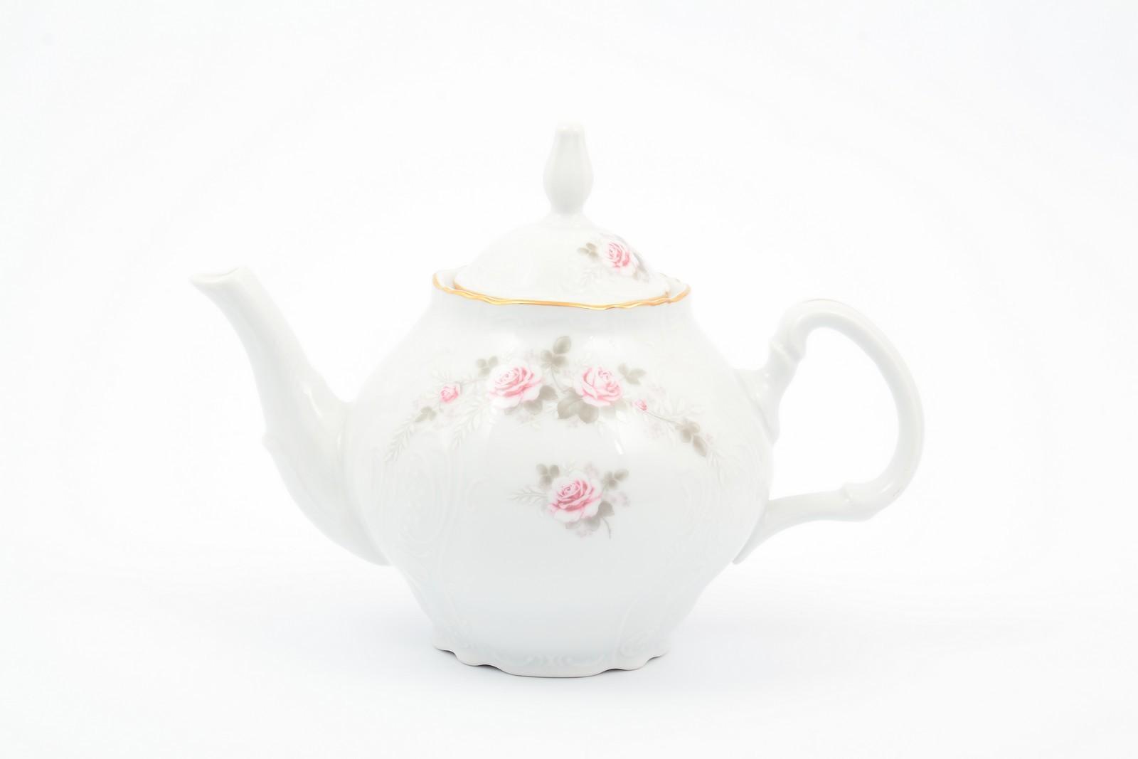 Чайник 1,2 л Бернадотт Серая роза золото