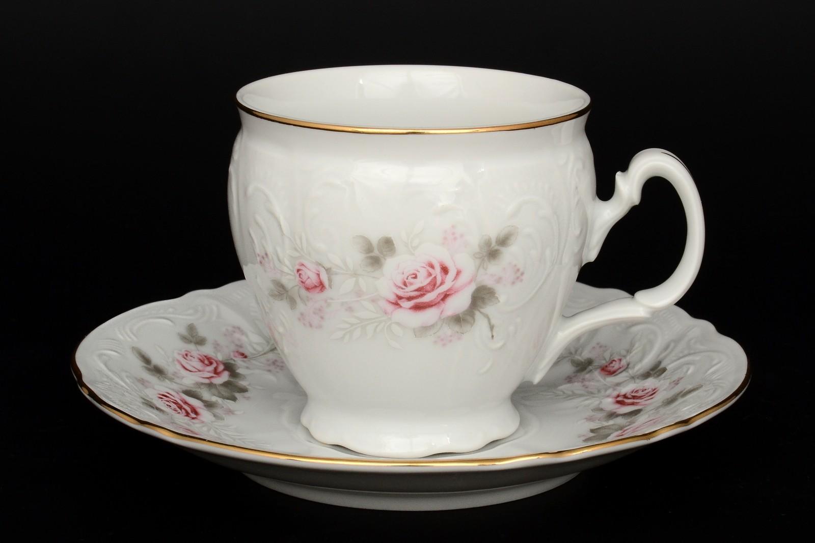 Набор чайный пар бочка 240 мл Бернадотт Серая роза золото (6 пар) bernadotte набор чайный 240 мл 6 пар