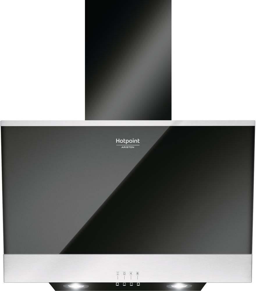 Встраиваемая вытяжка Hotpoint-Ariston HHVP6.6FLMK, черный цена и фото