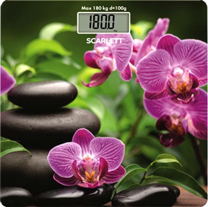 цена на Напольные весы Scarlett SC-BS33E038, зеленый, фиолетовый, черный