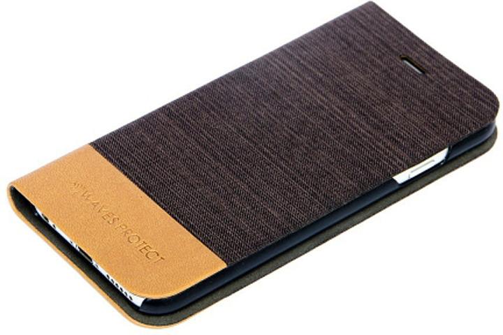 Чехол Waves Protect для iPhone 7 Plus, джинсовый, Black цены
