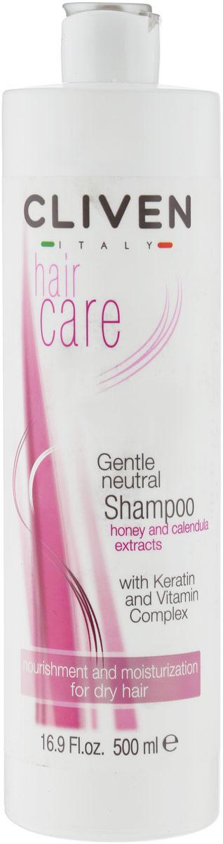Шампунь для волос Cliven Нейтральный шампунь7922Данный шампунь специально разработан для нежного мытья сухих волос, соблюдая их натуральный баланс. Он обогащен гидролизированным кератином, который благодаря своему аминокислотному составу обладает высоким сходством с натуральным кератином волоса и поэтому оказывает значительное укрепляющее и защитное действие, покрывая волос тонкой пленочкой.Совместное действие кератина с витаминным комплексом В5, Е, РР и экстрактами МЕДА и КАЛЕНДУЛЫ возвращают волосам шелковистость и мягкость.