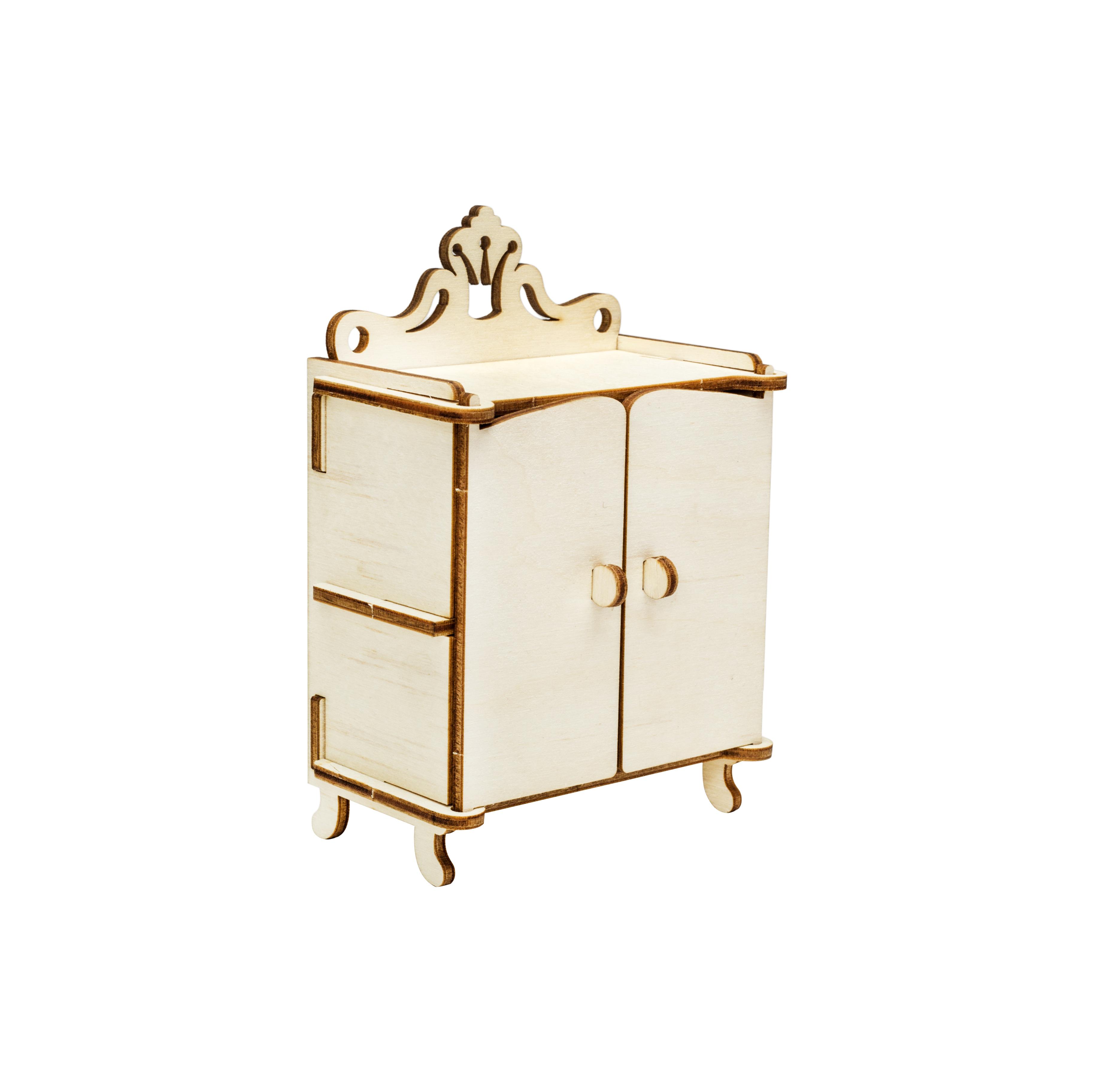 Мебель для кукол Iq Format в домик для кукол LOL, шкафчик бежевый