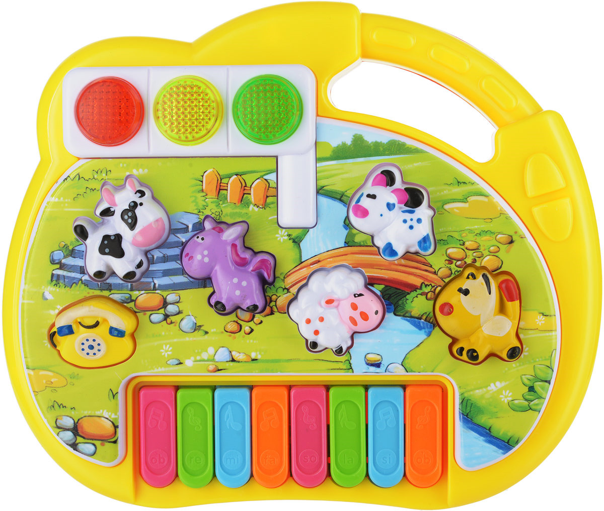 Пианино Junfa Toys Звуки животных, CY-6091B отсутствует учимся играть на синтезаторе и пианино