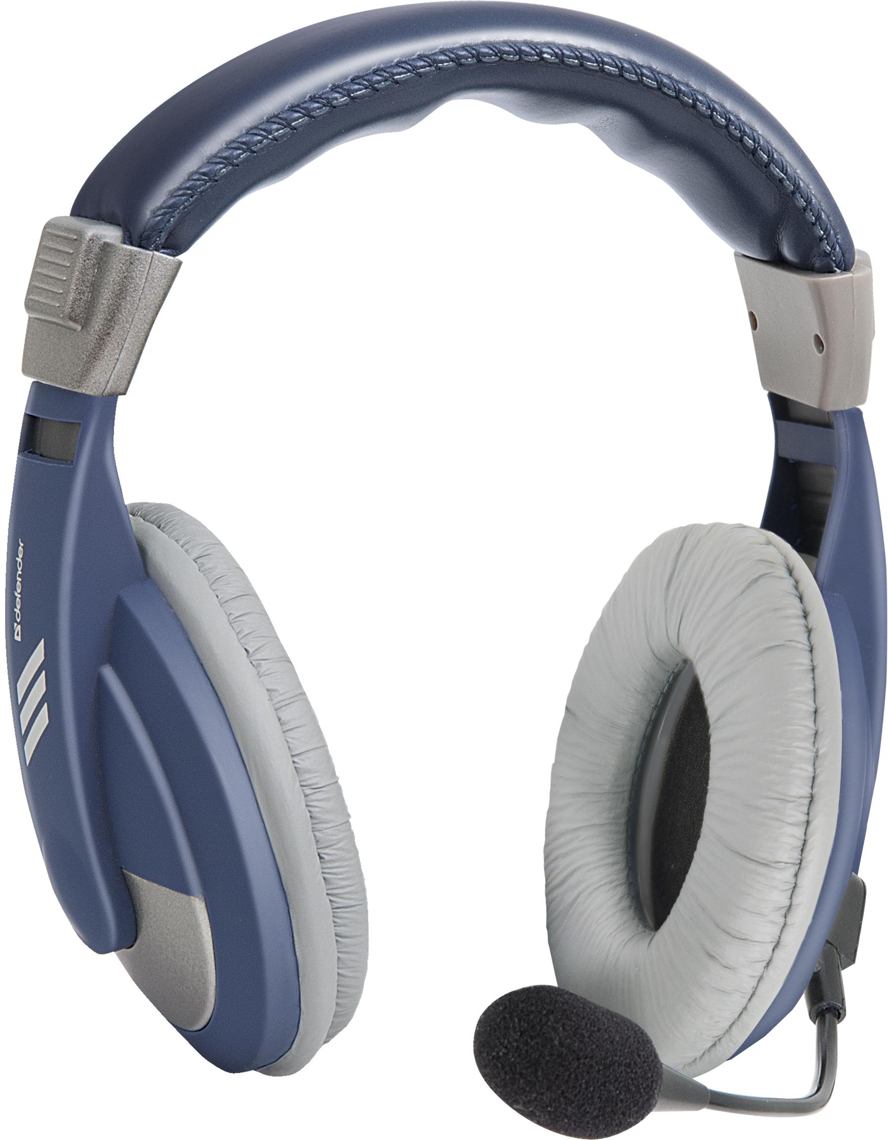 Компьютерная гарнитура Defender Gryphon 750, 63748, синий цены