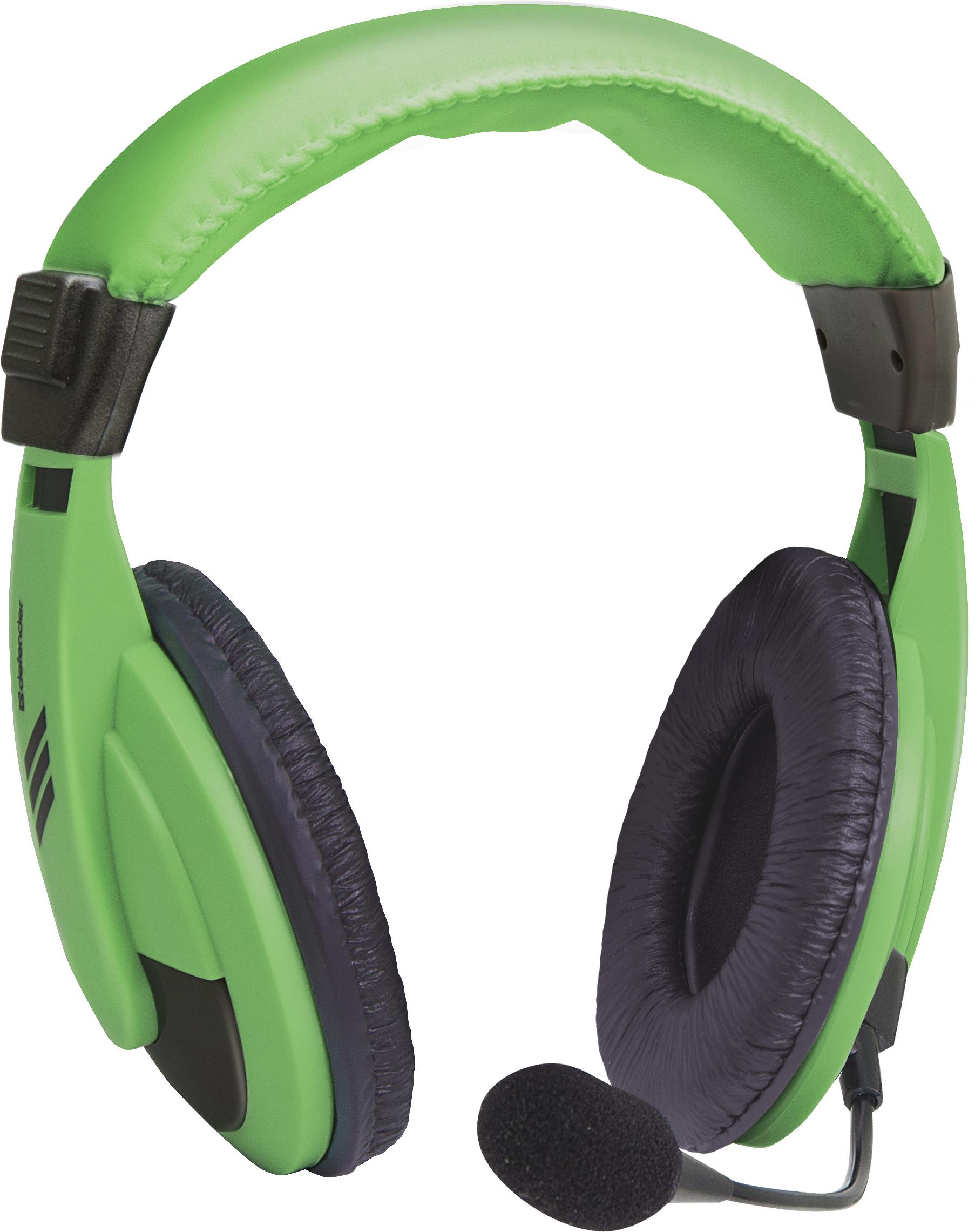 Компьютерная гарнитура Defender Gryphon 750, 63749, зеленый цены