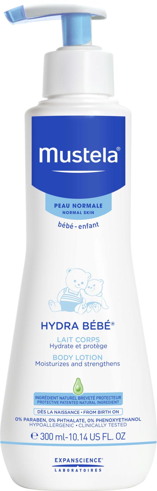 Молочко для тела Mustela Hydra Bebe, детское, 300 мл набор mustela bebe купание увлажнение гель 500 мл молочко для тела hydra 300 мл