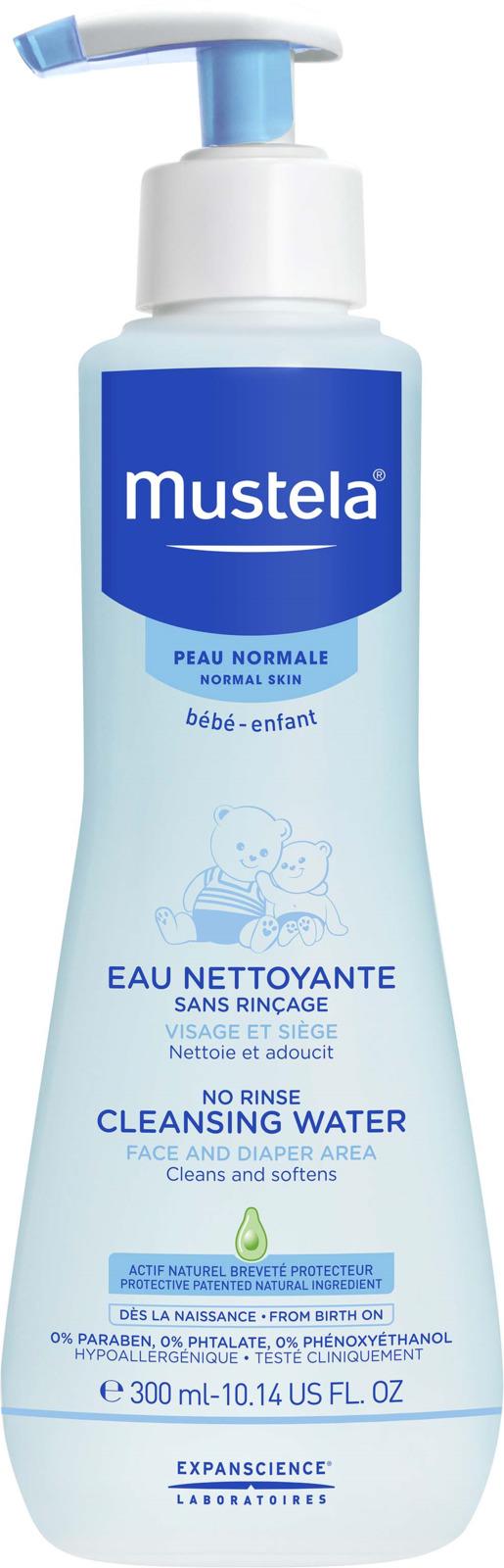 Очищающая вода Mustela для новорожденных и детей, 300 мл mustela пена для ванны mustela bebe 8700794 200 мл