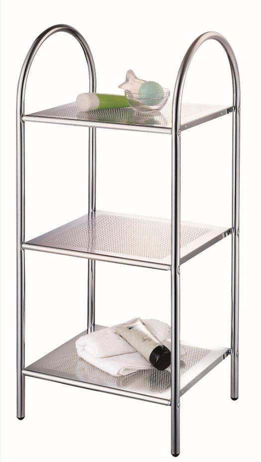 Этажерка My Space Стойка 3 яруса, серый металлик этажерка с деревянными полочками pristin ws004
