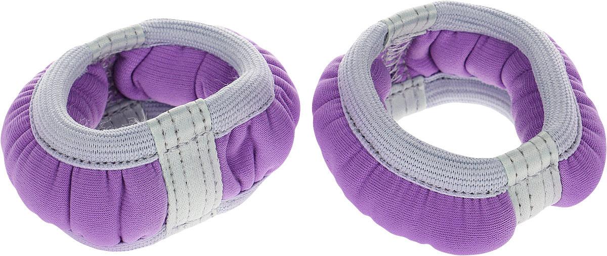 Набор утяжелителей-браслетов Indigo SM-147 для рук, сиреневый, 0.1 кг, 2 шт