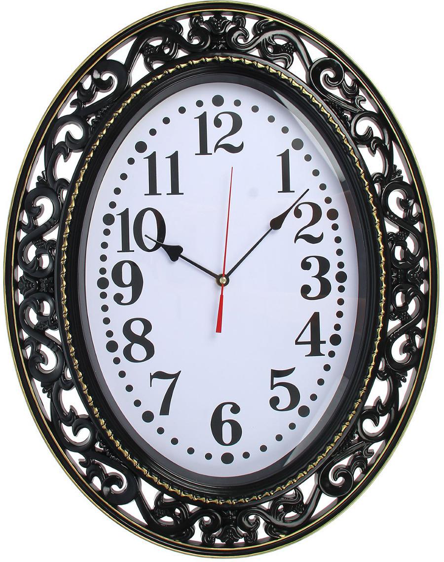 """Настенные часы """"Эвелин"""", 2364714, черный"""