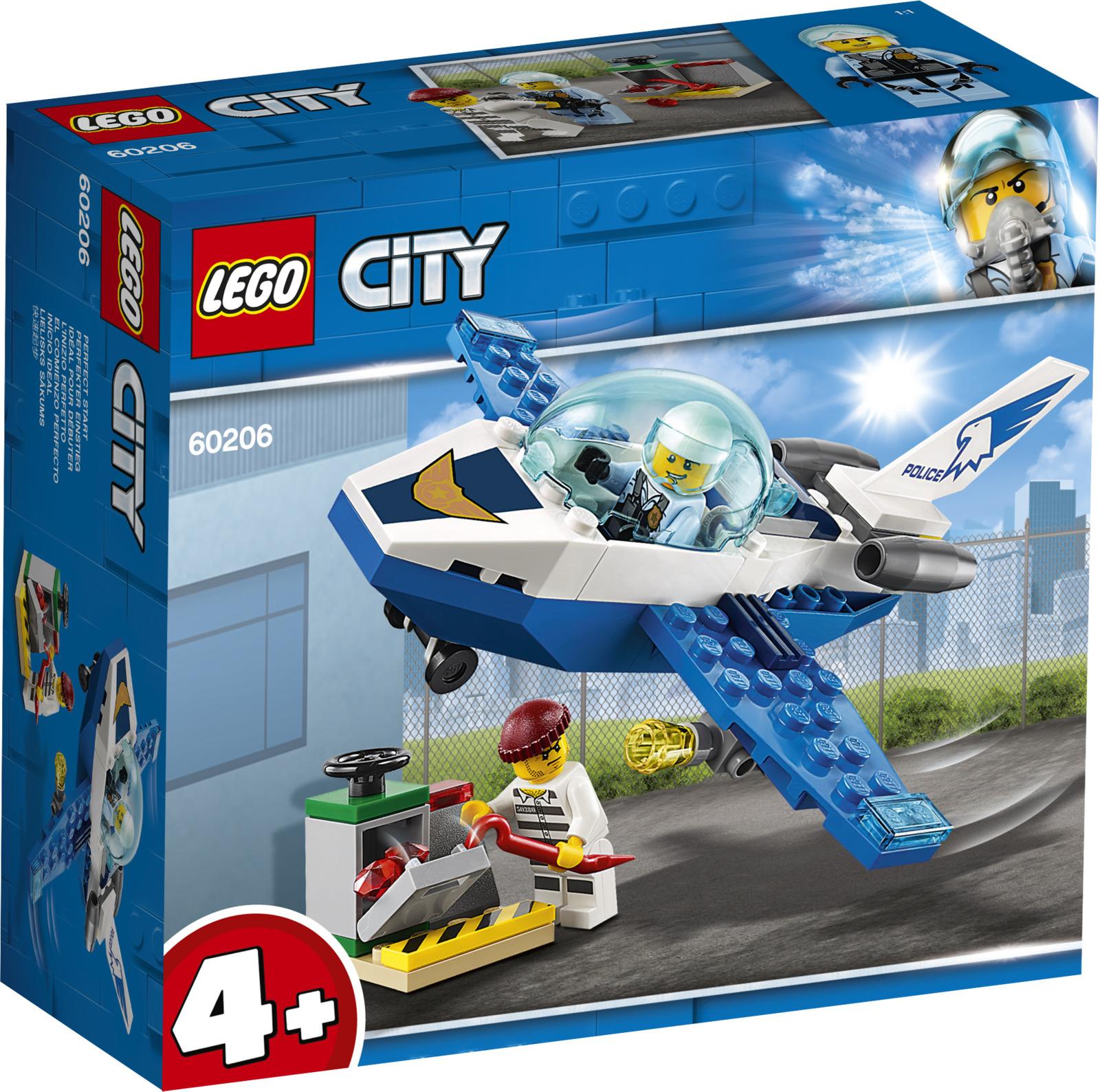 LEGO City Police 60206 Воздушная полиция, патрульный самолет Конструктор mantra настенный светильник mantra jeri 6373