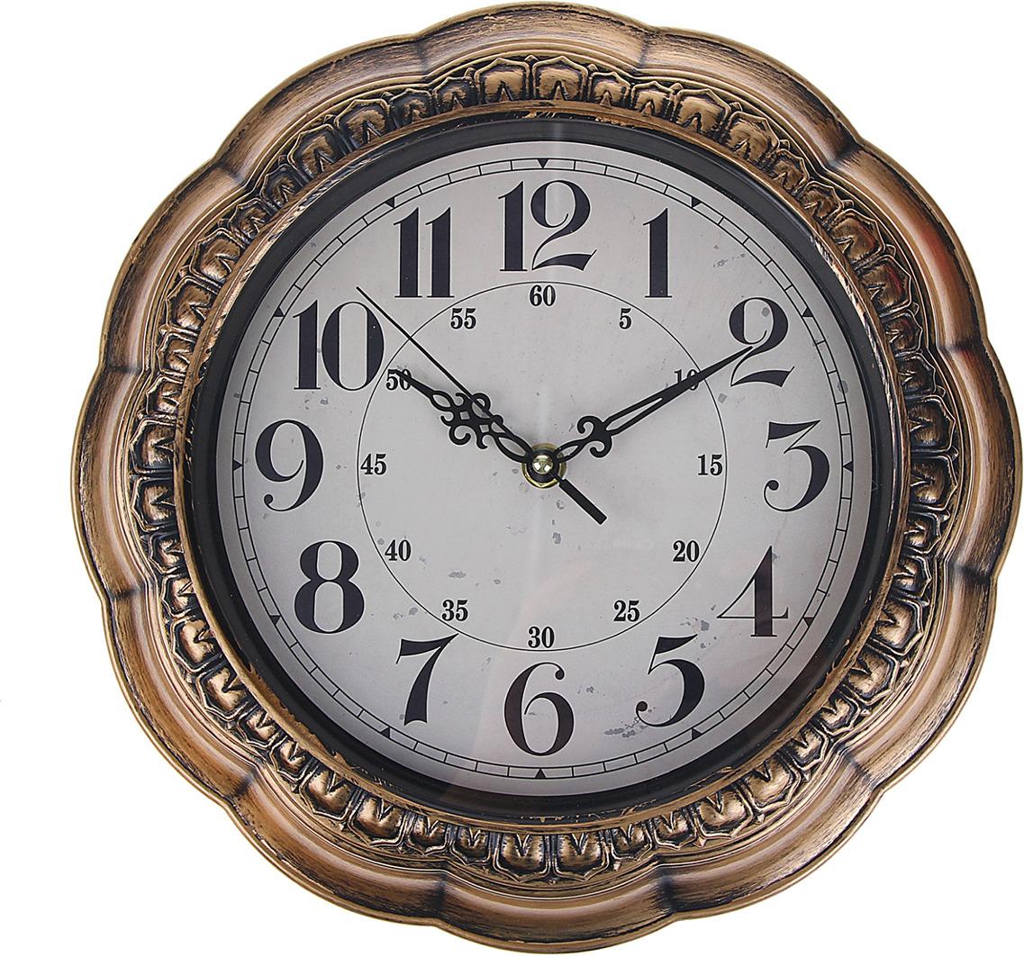 "Настенные часы ""Леона"", 1104405, бронза"