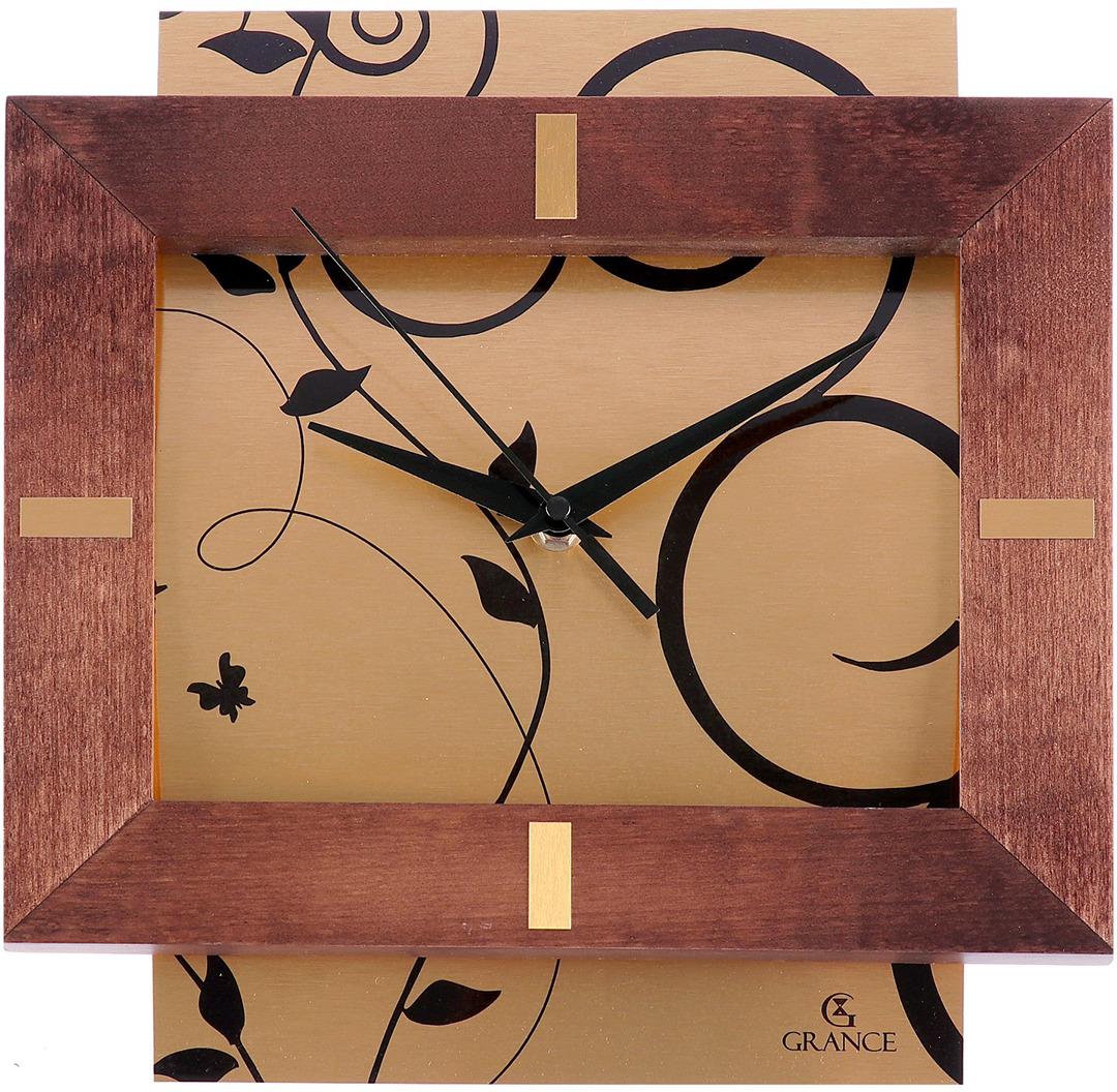 Часы настенные Grance, 926860, золотой, коричневый, 30 х 27 см