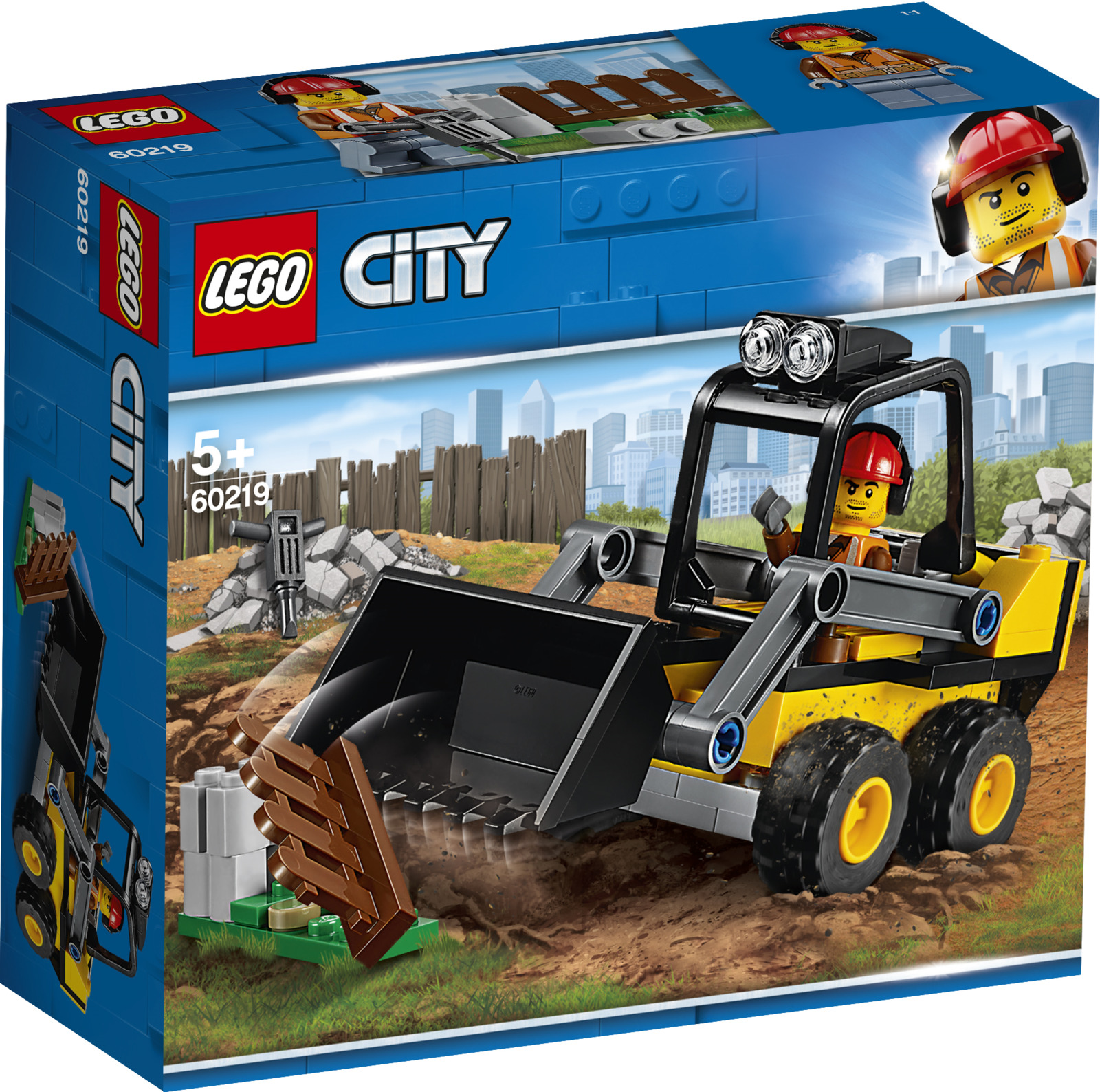 LEGO City Great Vehicles 60219 Строительный погрузчик Конструктор атолл золотой пирсинг nd7067
