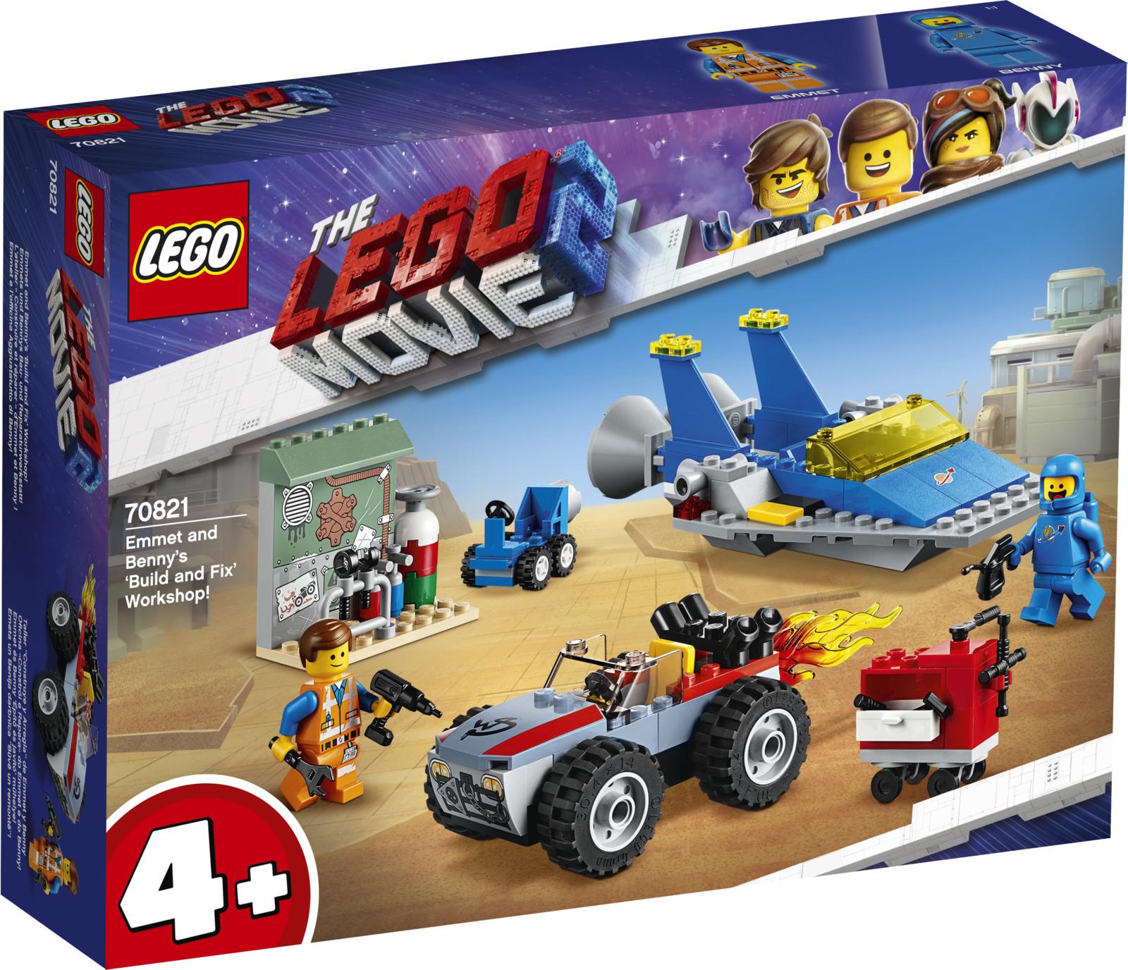 """LEGO Movie 2 70821 Мастерская """"Строим и чиним"""" Эммета и Бенни! Конструктор"""