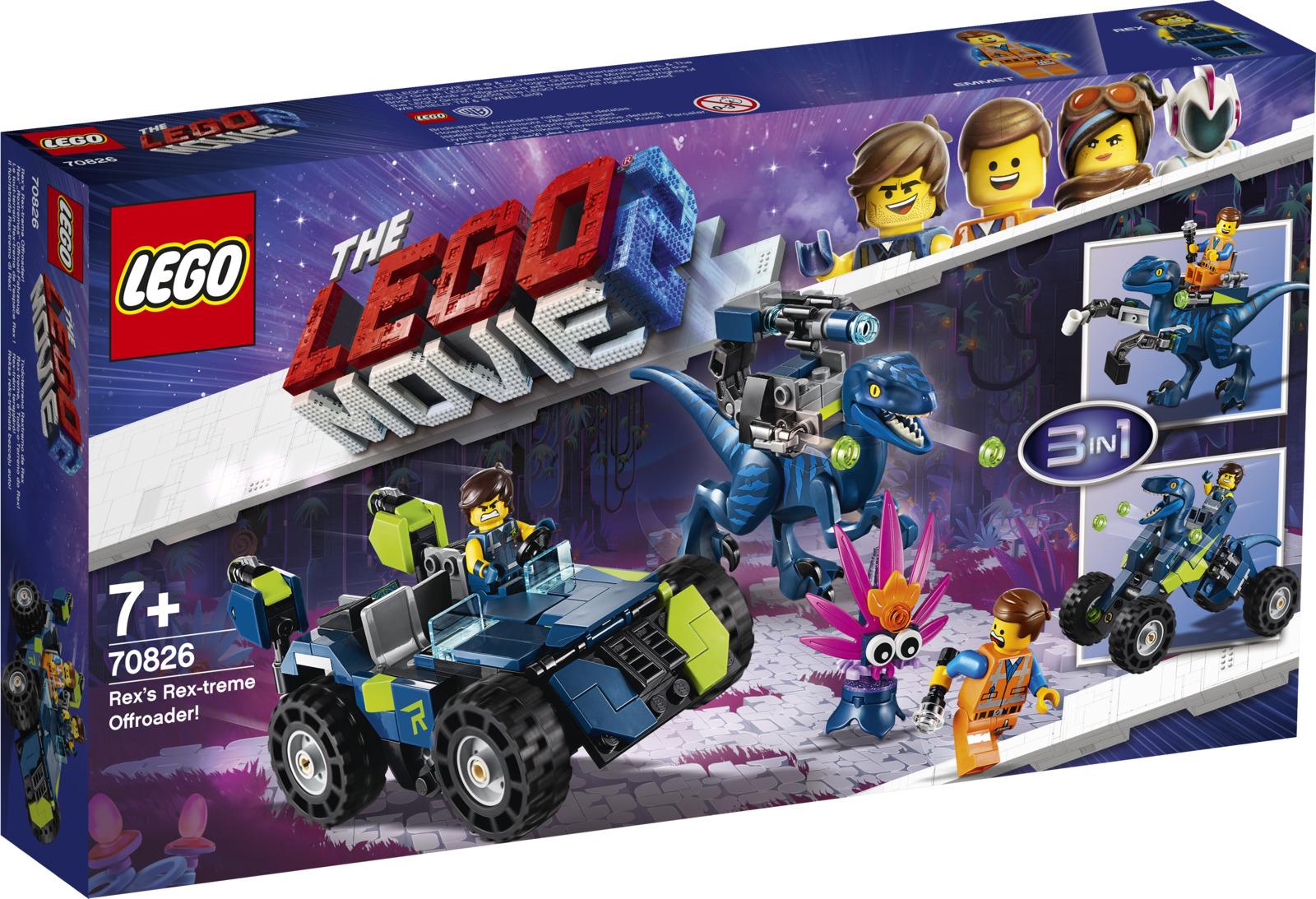 LEGO Movie 2 70826 Рэкстремальный внедорожник Рэкса! Конструктор