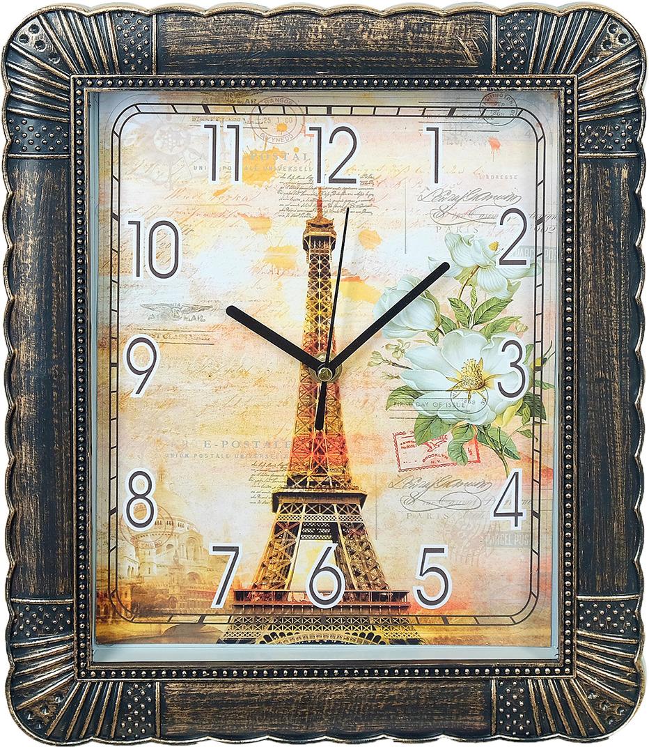 "Настенные часы ""Парижская открытка"", 3620779, бронза"