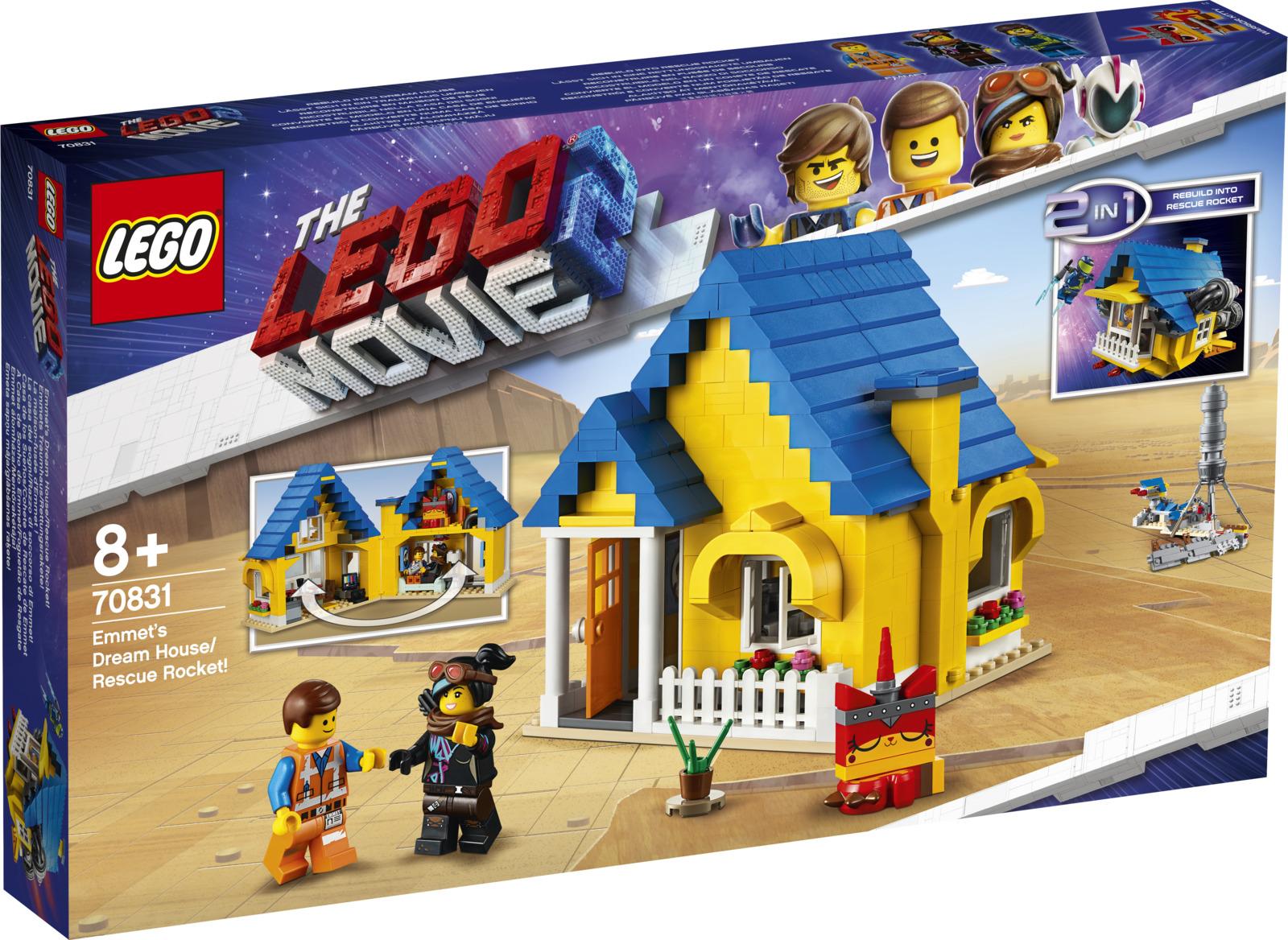 LEGO Movie 2 70831 Дом мечты Спасательная ракета Эммета Конструктор