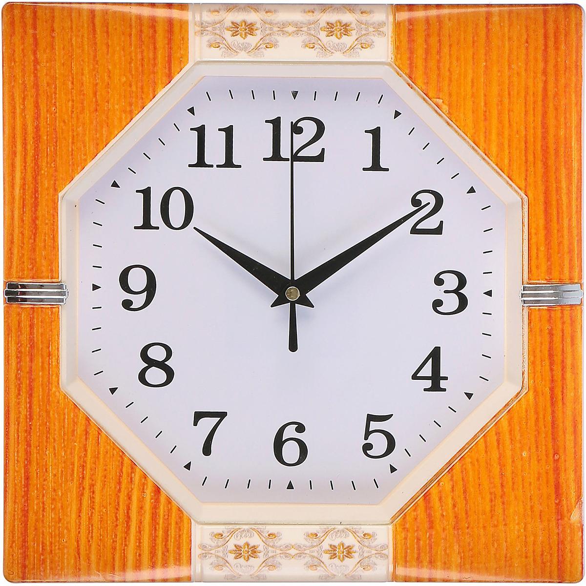 """Настенные часы """"Симона"""", 3018338, бежевый"""