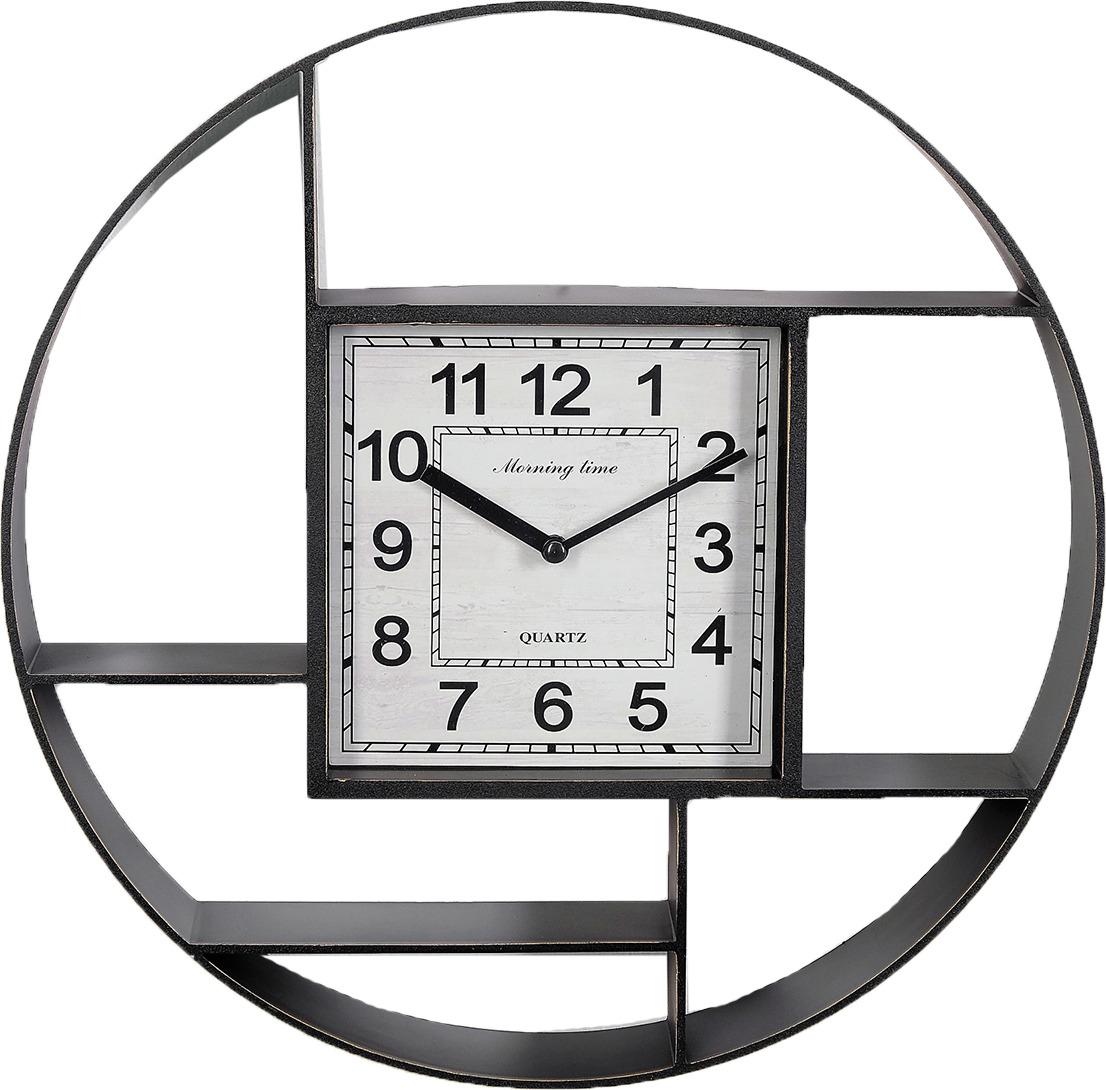 """Настенные часы """"Лорис"""", 3620840, черный"""