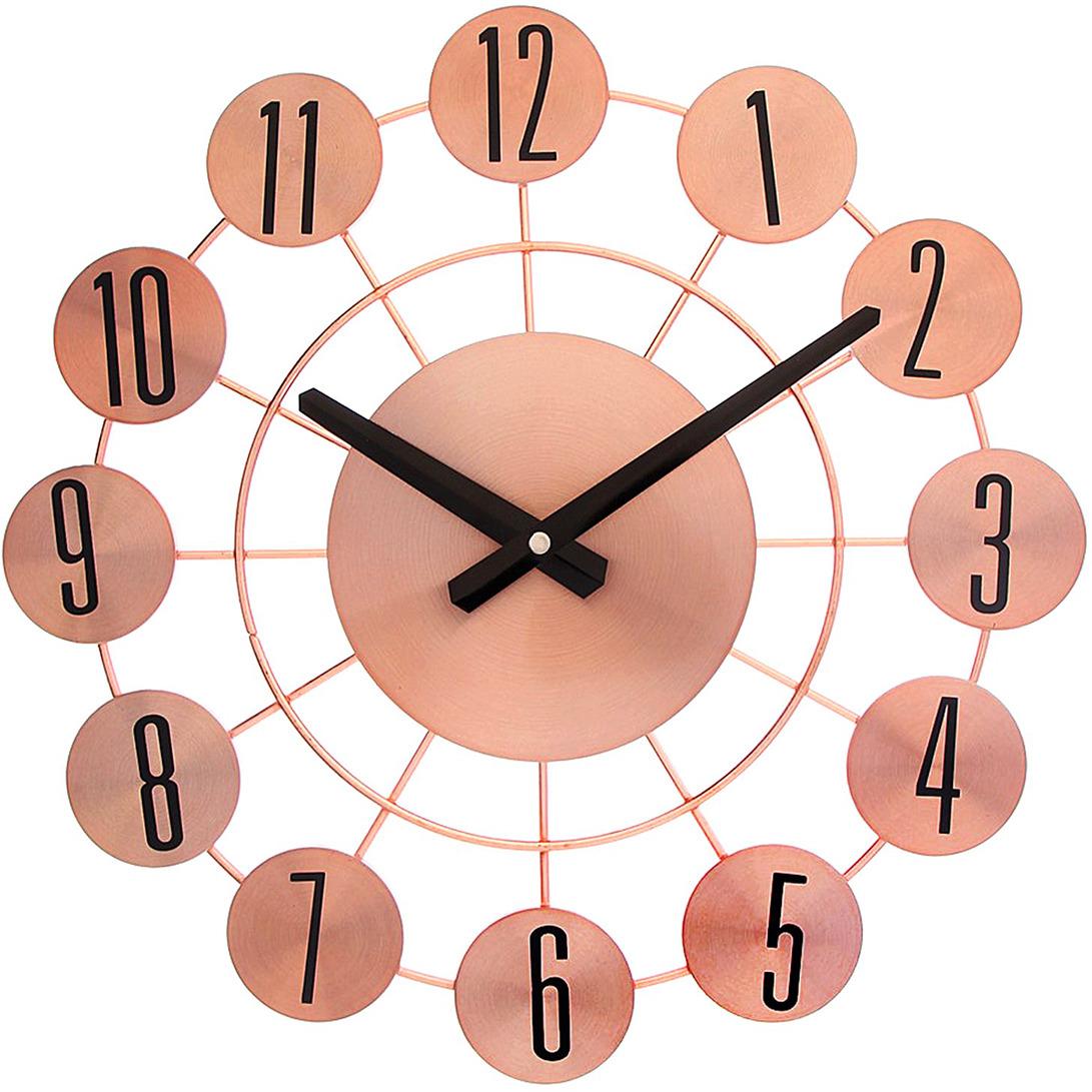 Настенные часы Интерьер с цифрами в кружках