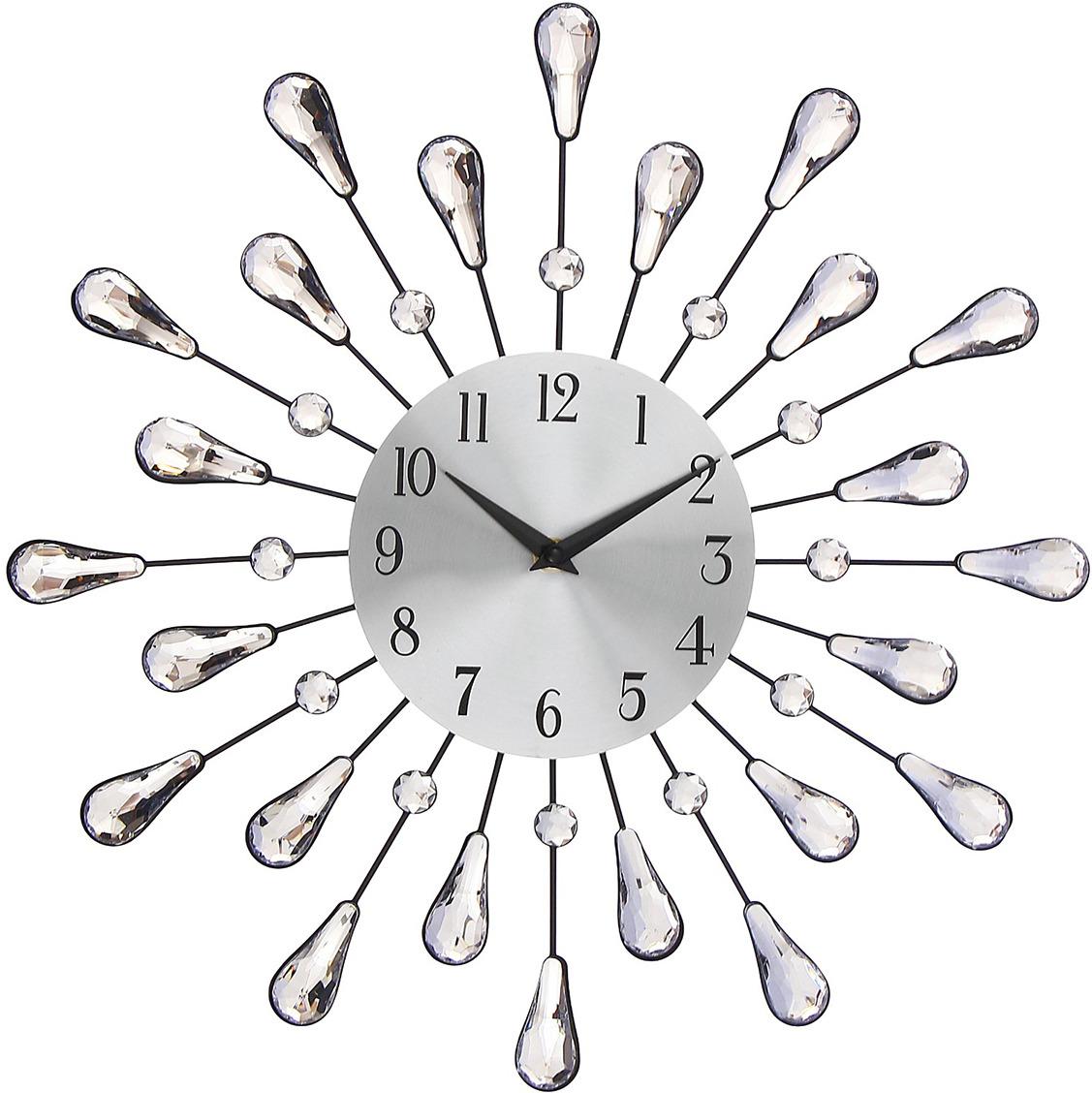 """Настенные часы """"Каплевидные лепестки"""", 3014817, серебристый"""