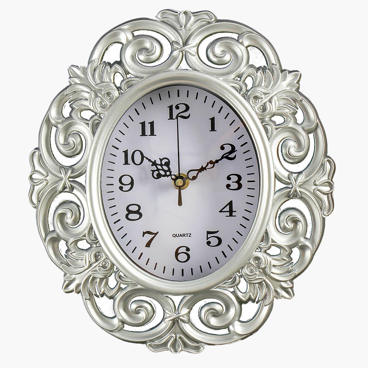 """Настенные часы """"Трейси"""", 4122196, серебристый"""