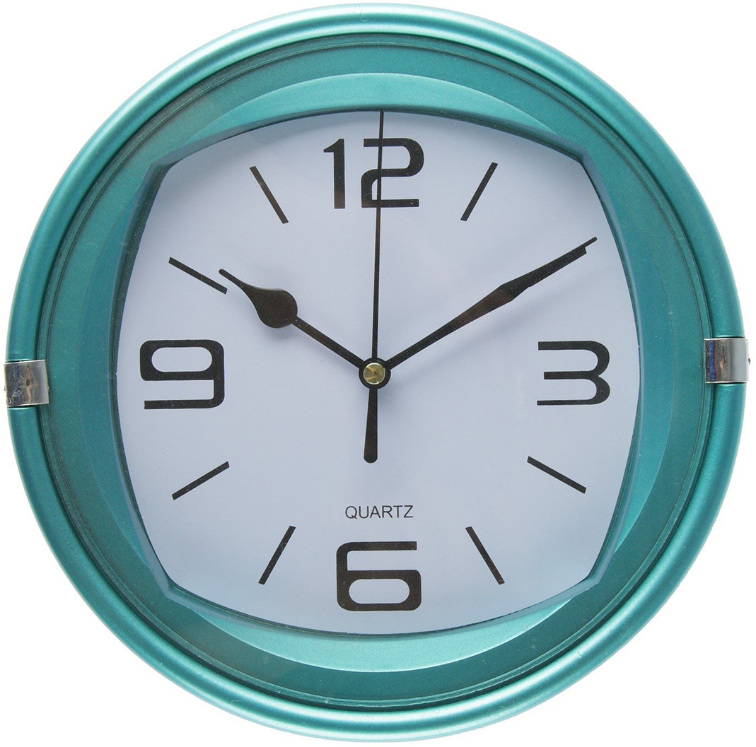 "Настенные часы ""Паула"", 2457695, бирюзовый"
