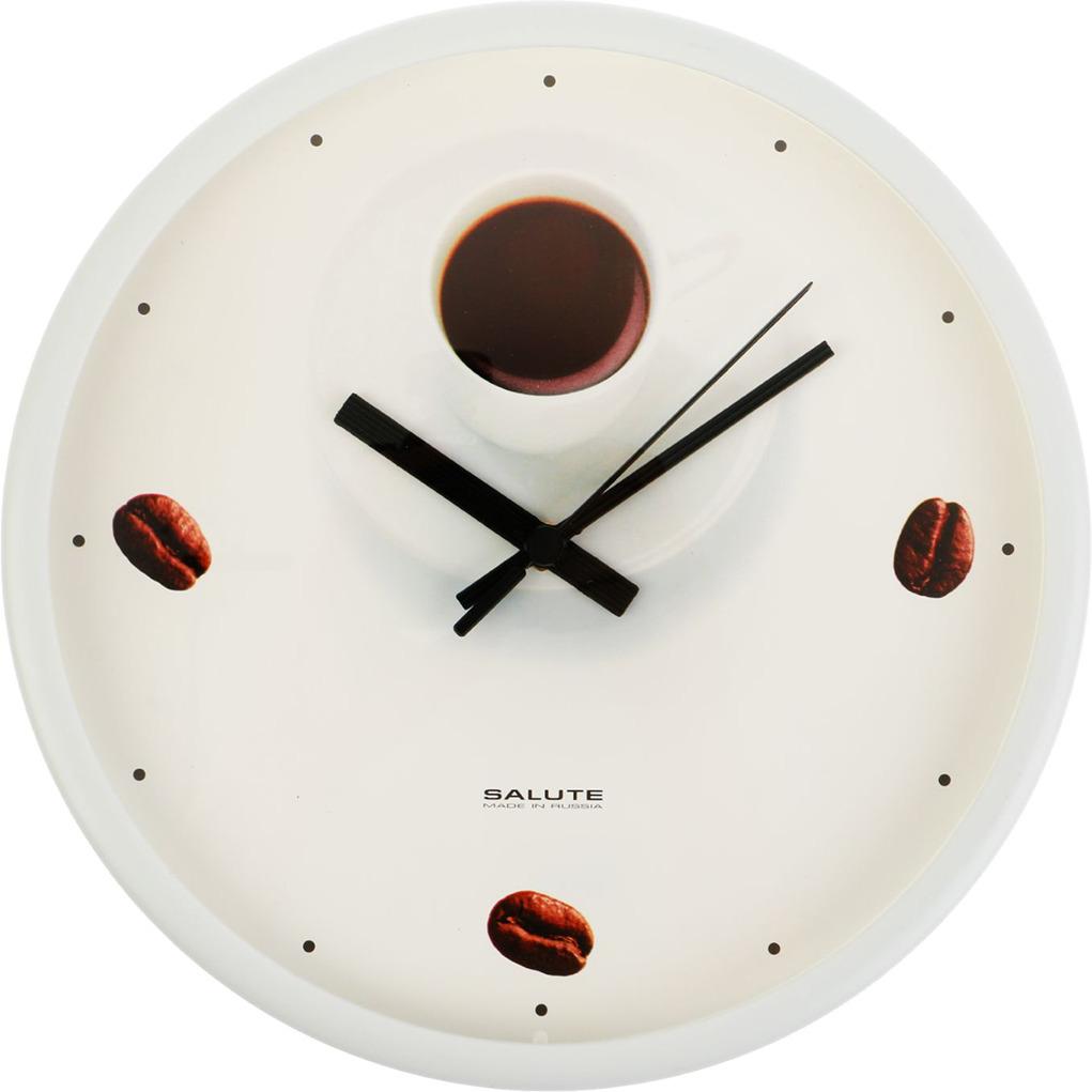 """Настенные часы """"Кофе и зерна"""", 1161956, белый"""