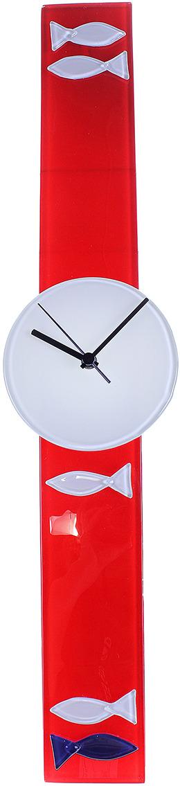 Часы настенные Рыбалка, 167297, красный, белый, 8 х 68 см167297Часы уже давно перестали быть предметом исключительно практического назначения. Сегодня они являются еще и отличным элементом декора, который вполне может стать настоящей изюминкой вашего интерьера.