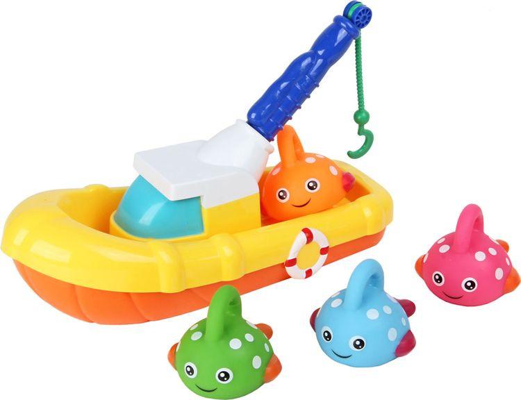 Игрушка для ванной Ути Пути Рыбацкая лодка, 72439 игрушка для ванны ути пути мельница лягушка