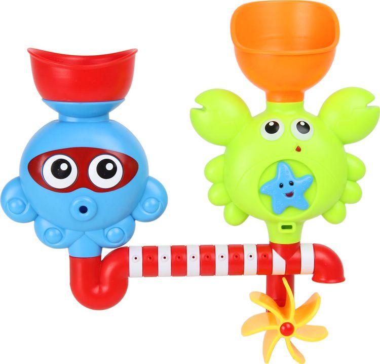 Игрушка для ванной Ути Пути Крабик и осьминог, 72440 игрушка для ванны ути пути мельница лягушка