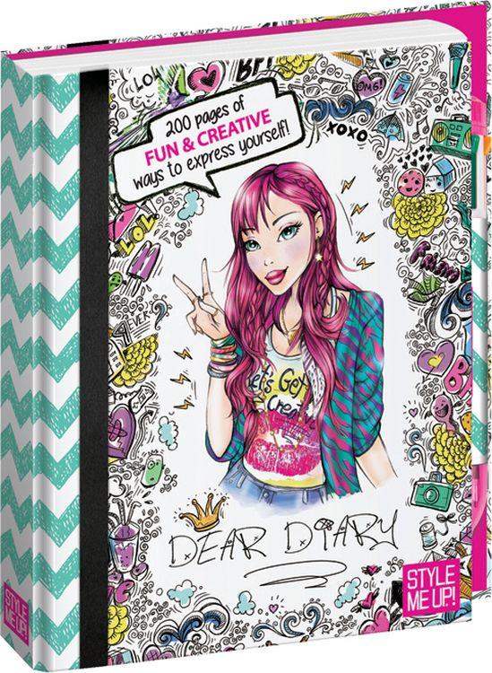 """Блокнот Style Me Up """"Дорогой дневник"""", 11401, с ручкой, разноцветный"""