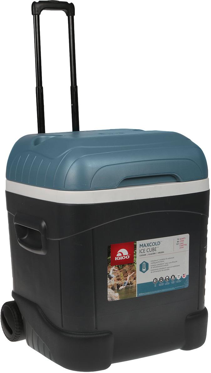 Контейнер изотермический Igloo Ice Cube Maxcold 70 Roller, 34071, черный