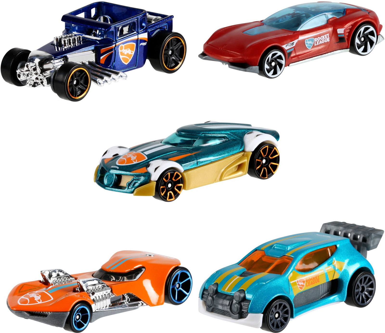 Набор машинок Hot Wheels Rocket League, 1806_FYL23, 5 шт new hot 25cm batman batgirl justice league batwoman enhanced version action figure toys collection christmas gift