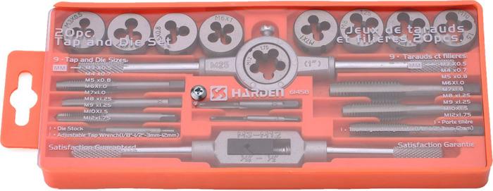 Набор метчиков и плашек Harden, 610458, профессиональный, 20 предметов держатель для книг 14 х 9 х 22 см