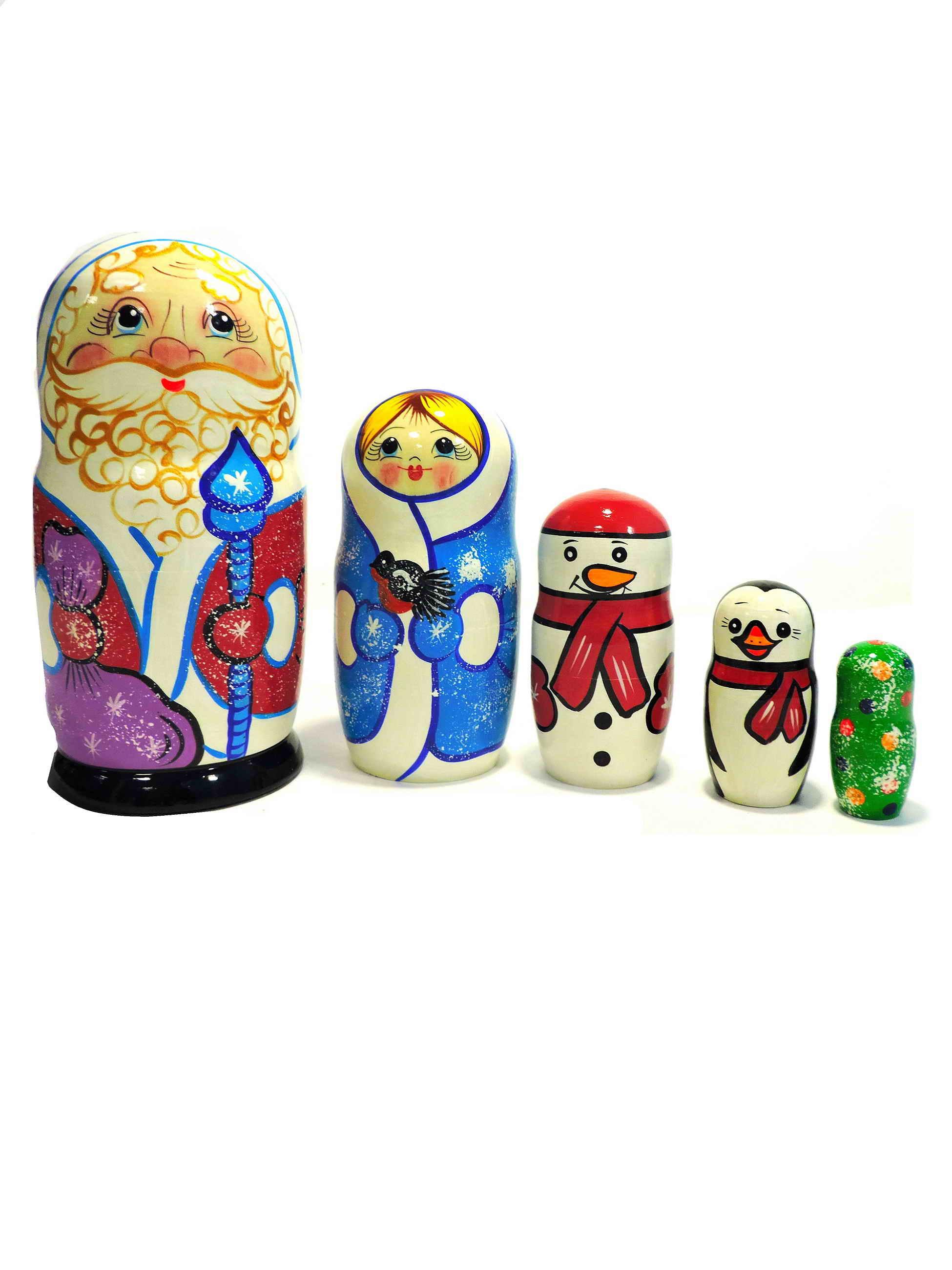 Матрешка. Дед Мороз (фиолетовый мешок)