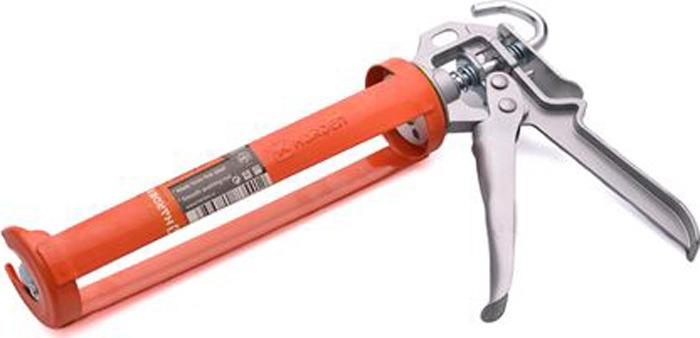 Пистолет для герметика Harden, 620413, усиленный, полукорпусной, с ребром жесткости пистолет для герметика энкор 56353