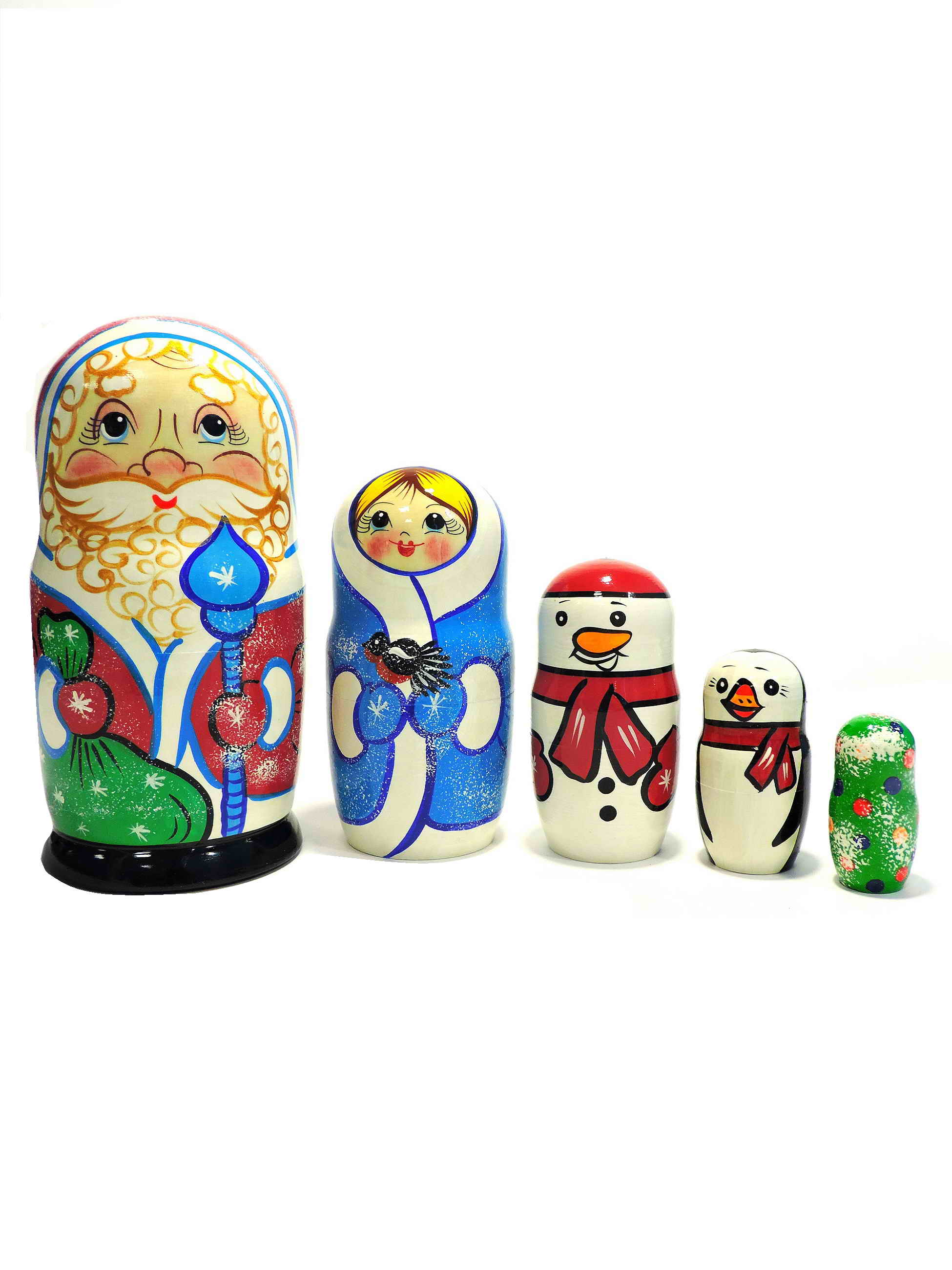 Матрешка. Дед Мороз (зеленый мешок)