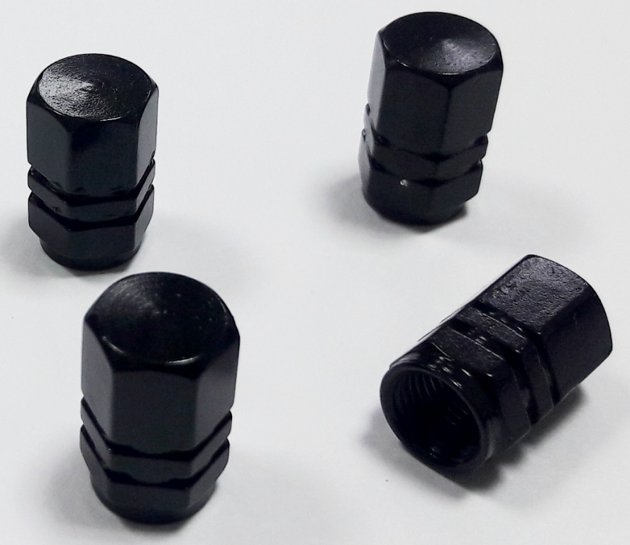 Колпачки KNV 001-2 Шестиугольный чер., металл
