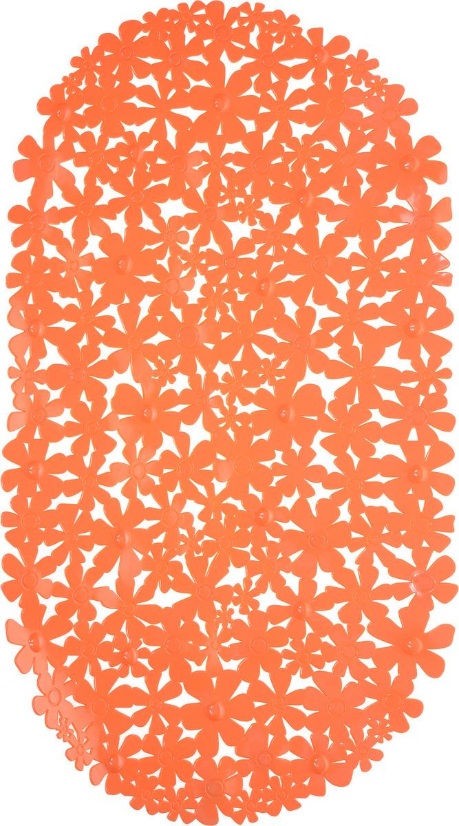 """Коврик противоскользящий Vortex """"Цветы"""", 15049, 37 х 66 см"""