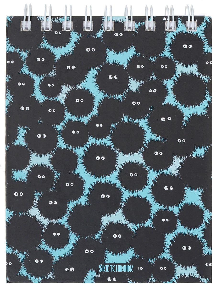 """Скетчбук Listoff """"Черные и Пушистые"""", 142767, А6+, 80 листов"""
