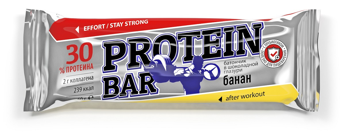 Батончик Effort Protein BAR, банан, 60 г цены