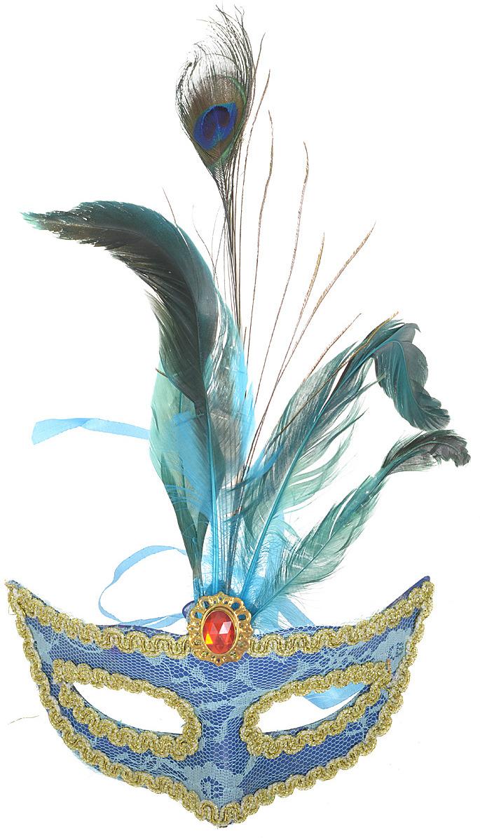 Маска карнавальная Павлиний глаз, 400065, в ассортименте маска карнавальная волк 15 см в пакете
